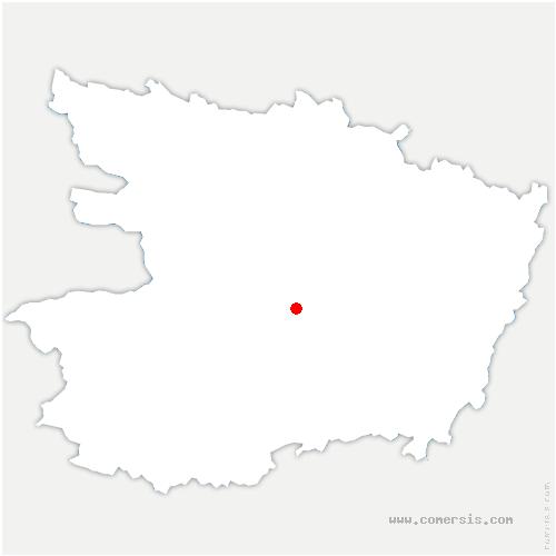 carte de localisation de Soulaines-sur-Aubance