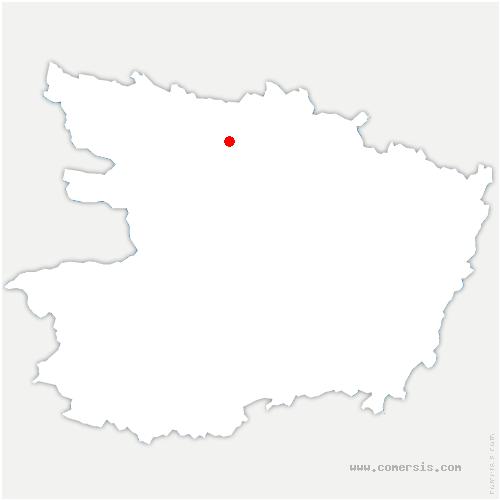 carte de localisation de Thorigné-d'Anjou