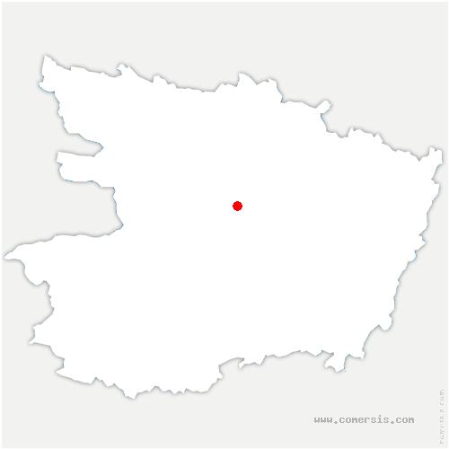 carte de localisation de Trélazé