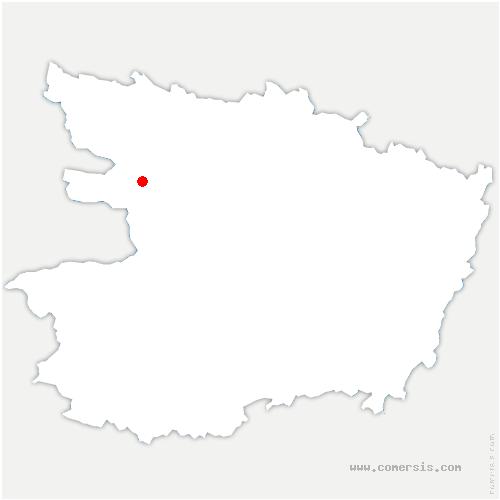 carte de localisation de Val d'Erdre-Auxence