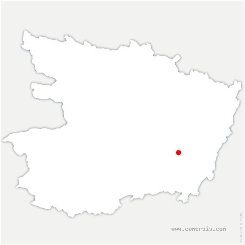 carte de localisation de Verrie