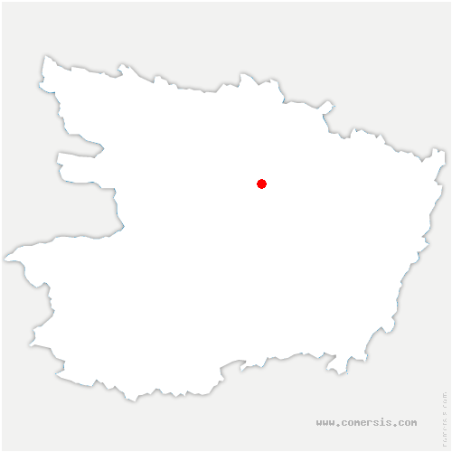 carte de localisation de Verrières-en-Anjou