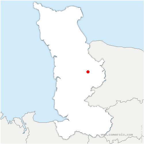 carte de localisation de Agneaux