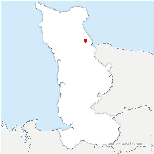 carte de localisation de Audouville-la-Hubert