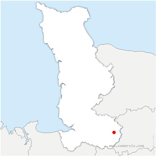 carte de localisation de Barenton