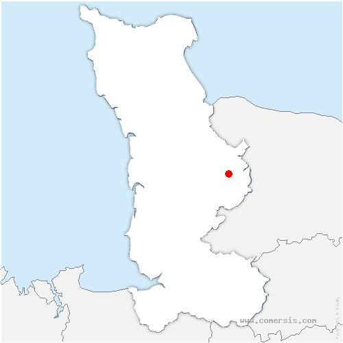 carte de localisation de Barre-de-Semilly