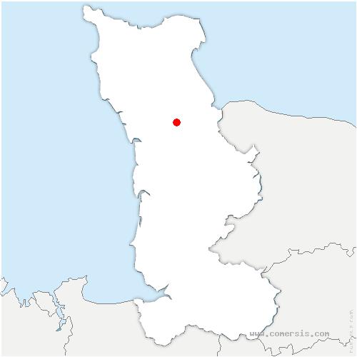 carte de localisation de Baupte