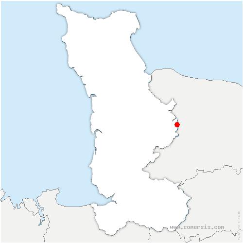 carte de localisation de Biéville