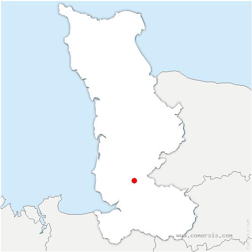 carte de localisation de Bourguenolles