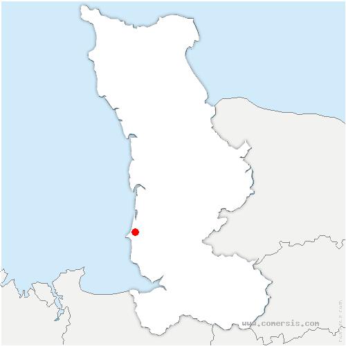 carte de localisation de Bréville-sur-Mer