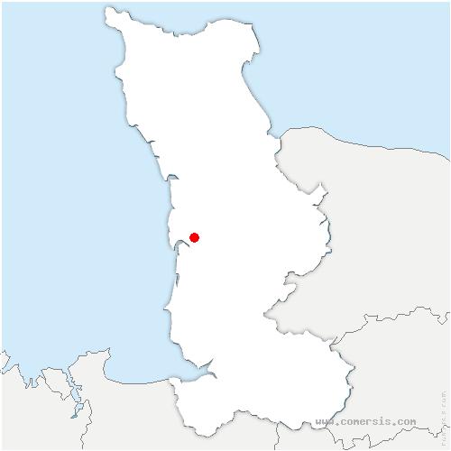 carte de localisation de Bricqueville-la-Blouette