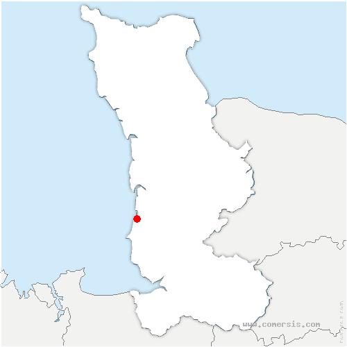 carte de localisation de Bricqueville-sur-Mer