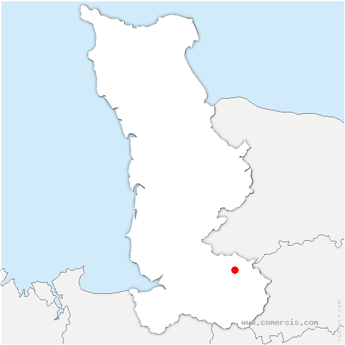 carte de localisation de Brouains