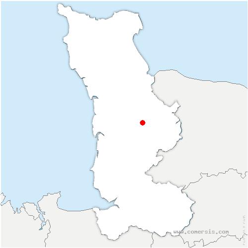 carte de localisation de Canisy