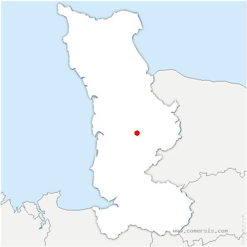 carte de localisation de Carantilly