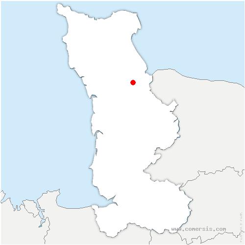 carte de localisation de Carentan-les-Marais