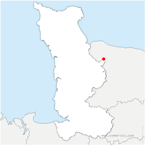 carte de localisation de Cerisy-la-Forêt