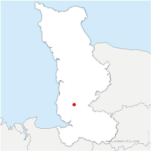 carte de localisation de Champrepus