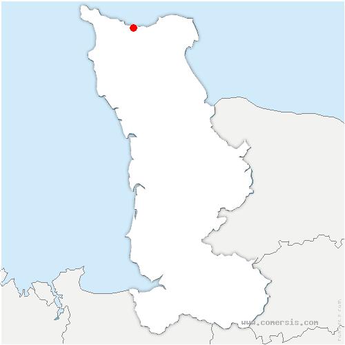 carte de localisation de Cherbourg-en-Cotentin