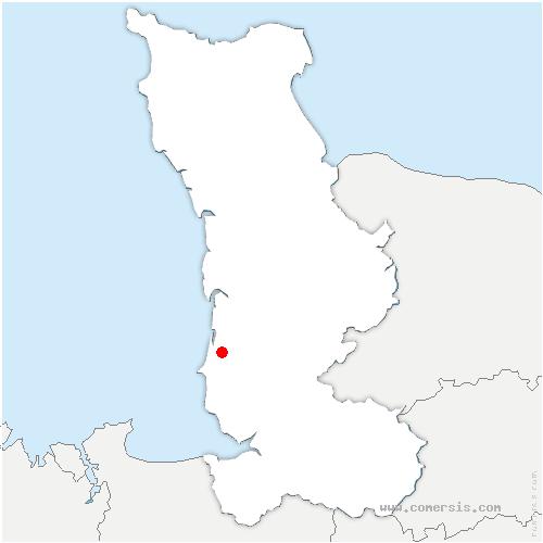 carte de localisation de Coudeville-sur-Mer