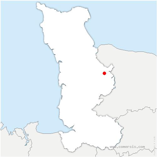 carte de localisation de Couvains