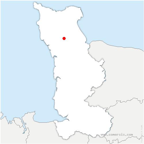 carte de localisation de Crosville-sur-Douve
