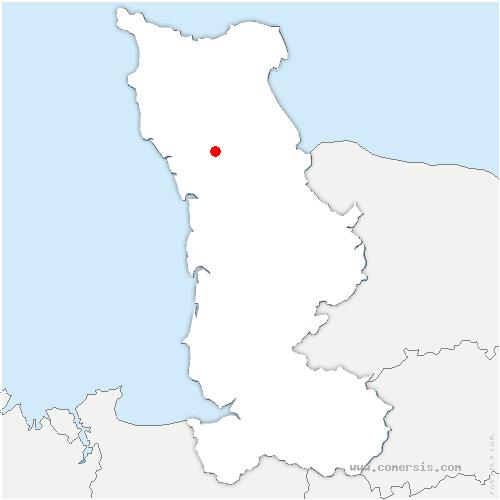 carte de localisation de Doville