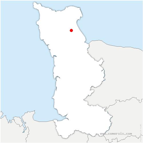 carte de localisation de Éroudeville