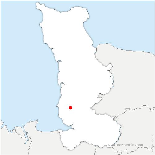 carte de localisation de Folligny