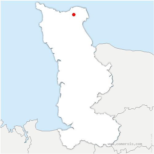 carte de localisation de Gonneville-le-Theil