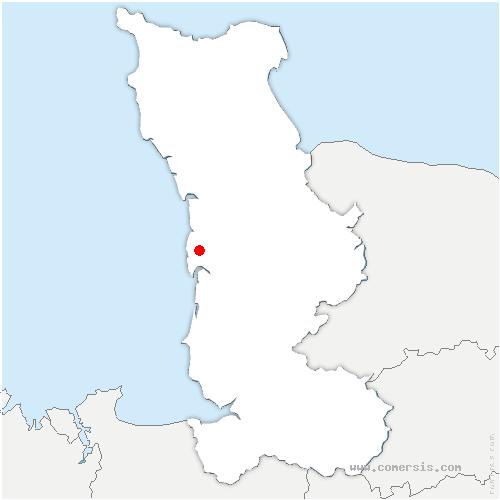 carte de localisation de Gouville-sur-Mer