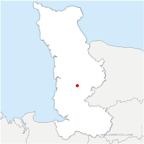 carte de localisation de Hambye