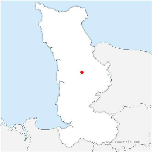 carte de localisation de Hauteville-la-Guichard