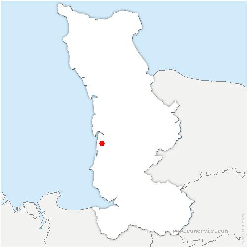 carte de localisation de Hauteville-sur-Mer
