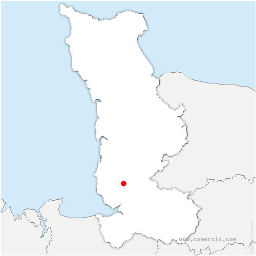carte de localisation de Haye-Pesnel
