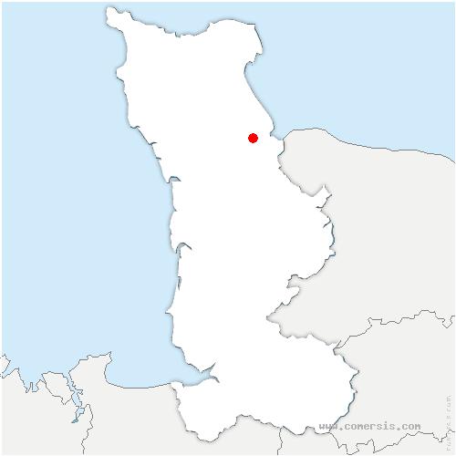 carte de localisation de Hiesville