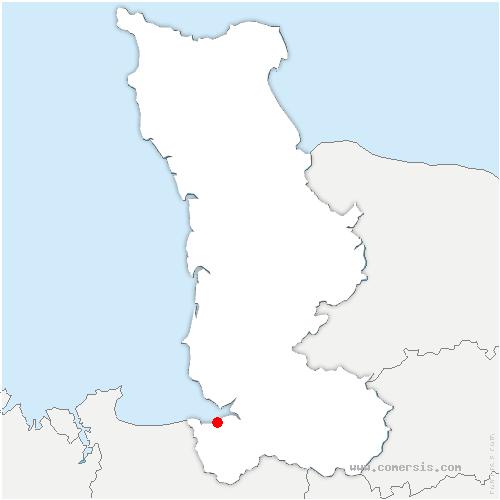 carte de localisation de Huisnes-sur-Mer