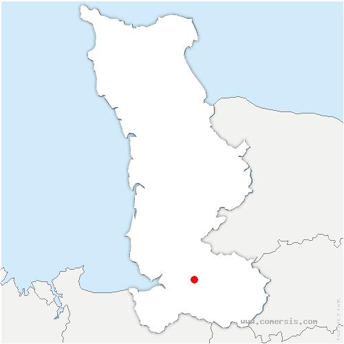 carte de localisation de Isigny-le-Buat