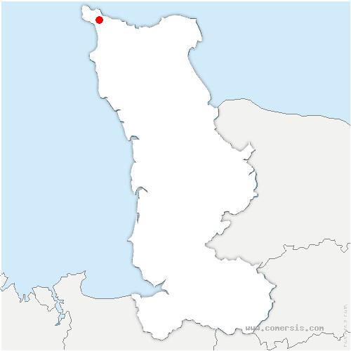carte de localisation de La Hague