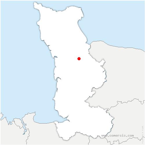 carte de localisation de Marchésieux