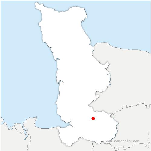 carte de localisation de Mesnil-Adelée