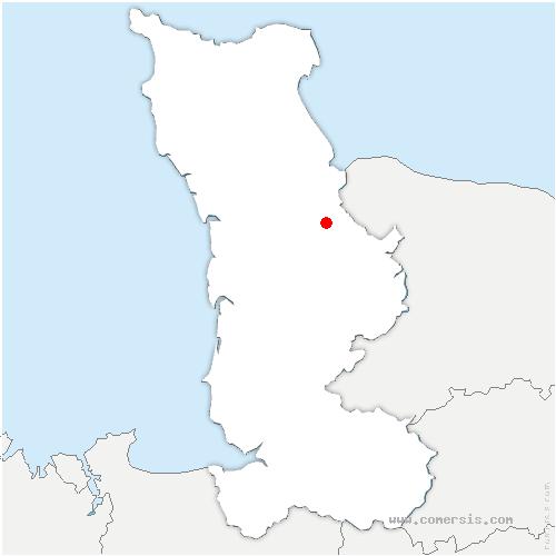 carte de localisation de Mesnil-Véneron