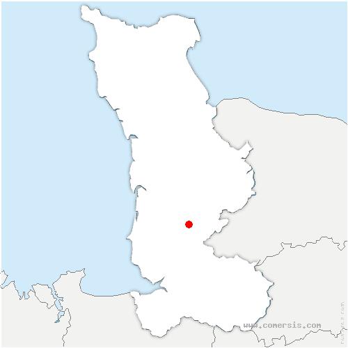 carte de localisation de Montaigu-les-Bois
