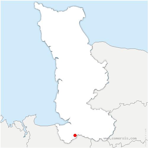 carte de localisation de Montjoie-Saint-Martin