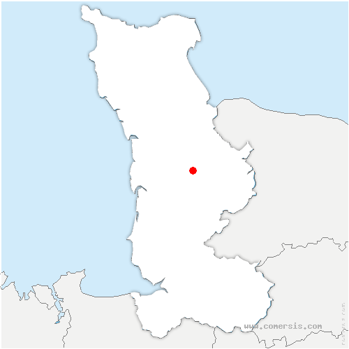 carte de localisation de Montreuil-sur-Lozon