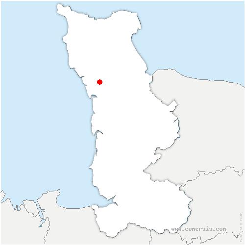 carte de localisation de Neufmesnil