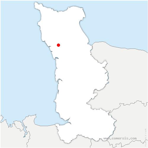 carte de localisation de Neuville-en-Beaumont