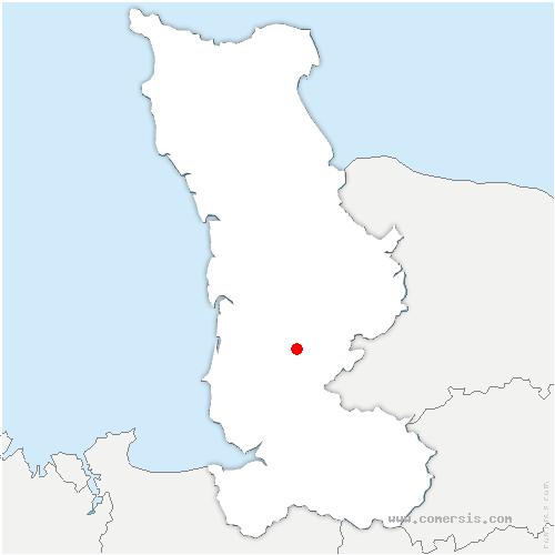 carte de localisation de Percy-en-Normandie