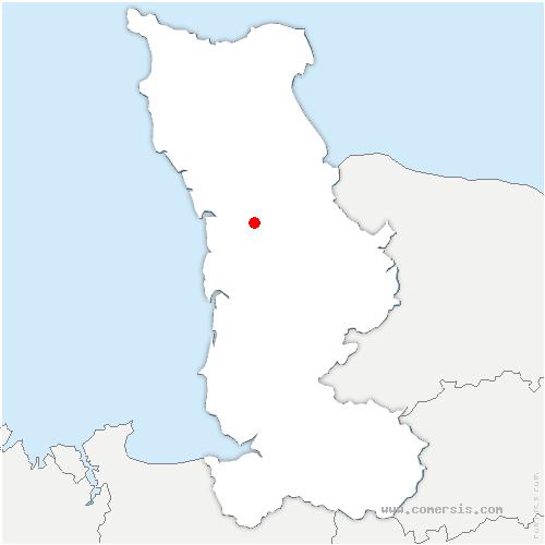 carte de localisation de Périers