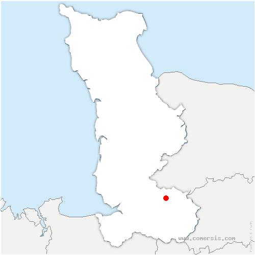 carte de localisation de Perriers-en-Beauficel